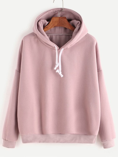 Hooded Drop Shoulder Sweatshirt