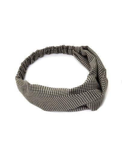Hahnentritt Stirnband mit Twist