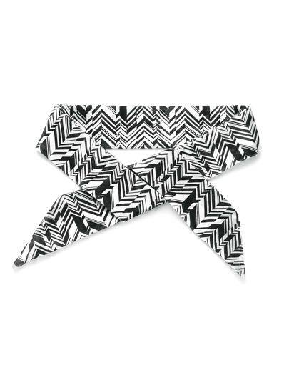 Écharpe maigre imprimé géométrie