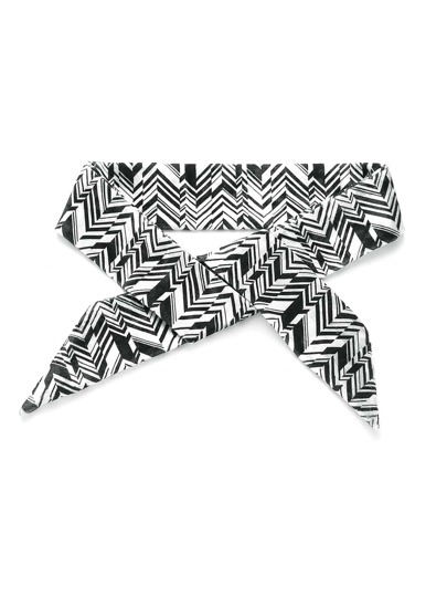 Geometric Print Skinny Scarf