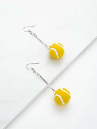 Tennis Design Drop Earrings