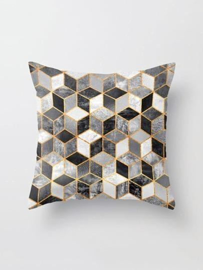 Geometric Print Pillowcase Cover