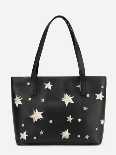 PU Handtasche mit Stern