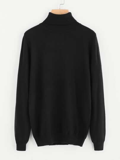 Roll Neck Soft Knit Jumper