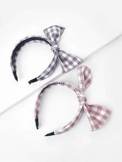 Bow Tie Headband 2pcs