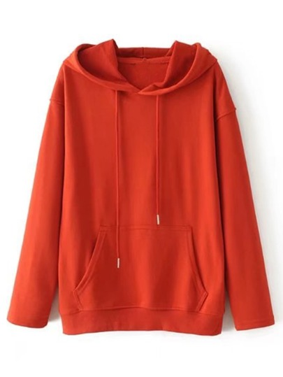 Kangaroo Pocket Drop Shoulder Hoodie