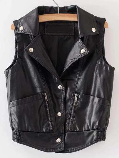 Cappotto stile motociclista di PU
