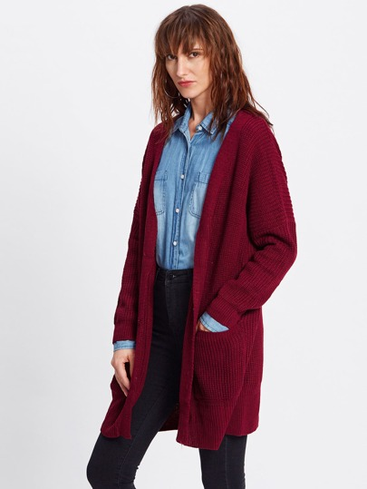 Drop Shoulder Longline Cardigan