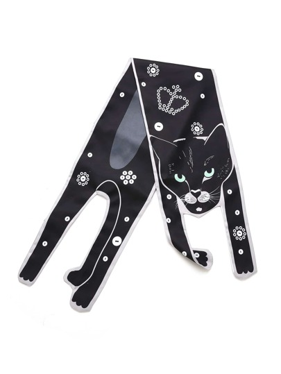 Crown Print Cat Scarf