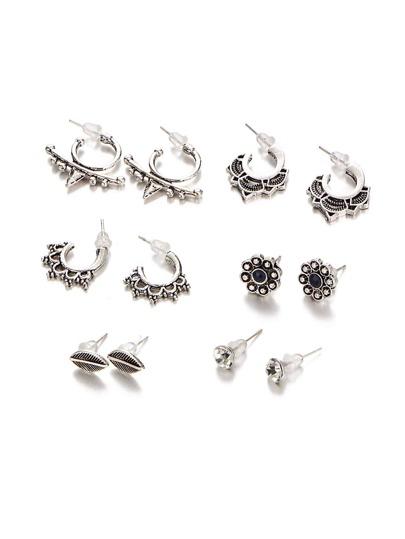 Set di orecchini 6 coppie