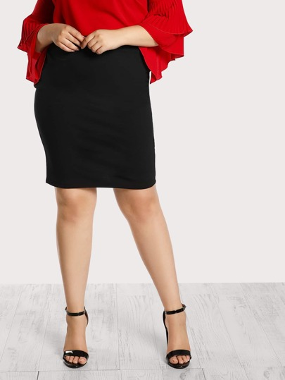 High Rise Pencil Skirt BLACK
