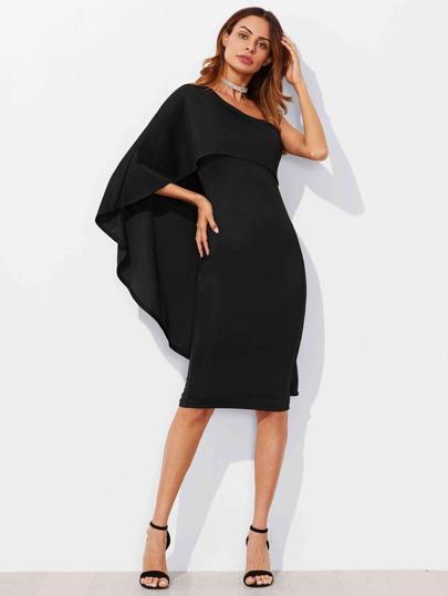 Asymmetrisches Ein Schulter Kleid