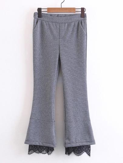 Pantalones de encaje con vuelo