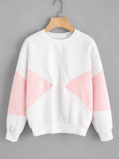 Color Block Thicker Sweatshirt