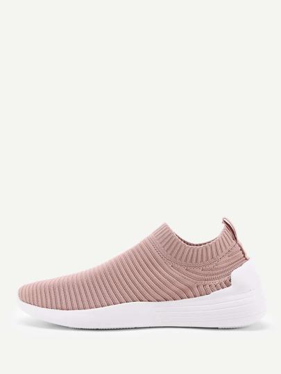 Zapatillas bajas con diseño de punto