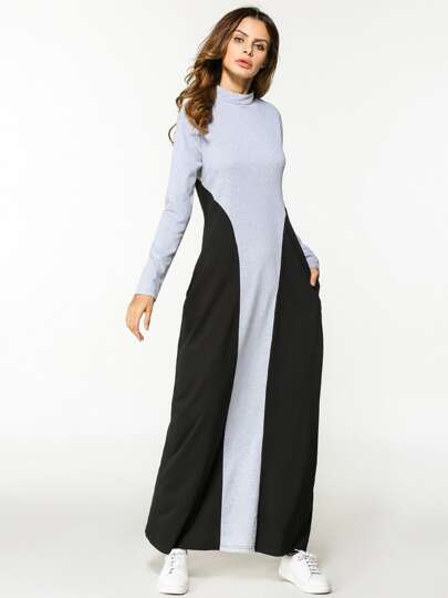 Cut And Sew Full Length Dress