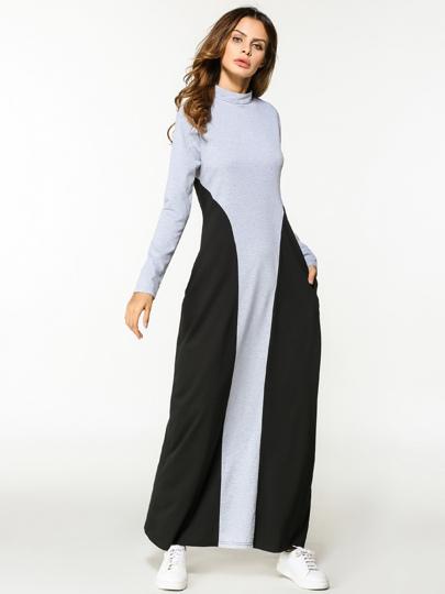 Vestido largo con costuras
