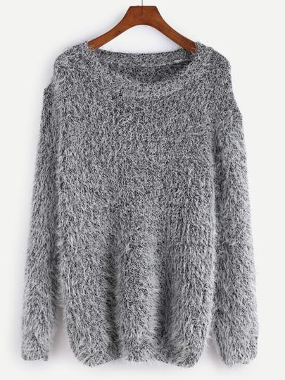 Fuzzy Strick Pullover