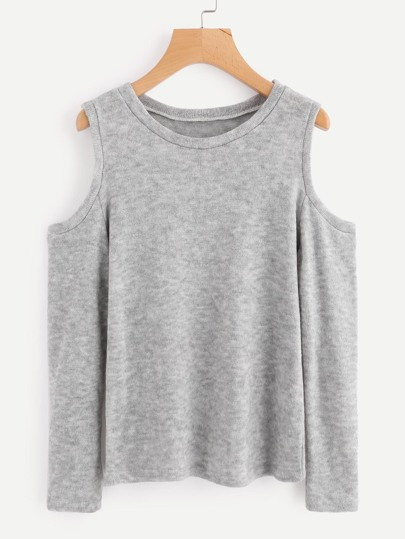 Suéter de hombros descubiertos