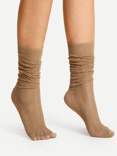 Socquettes longues découpées