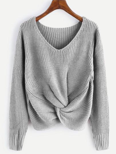 Suéter girante escote V