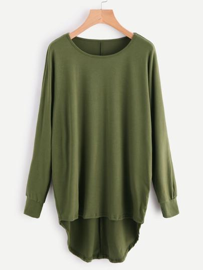 High Low Oversized Batwing Sweatshirt