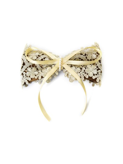 Lace Overlay Bow Hair Clip