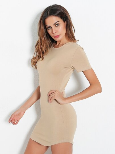 Curved Hem Bodycon Dress