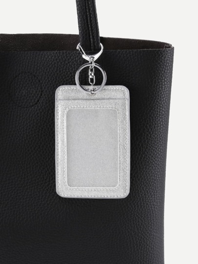 Faux Leather Card Case