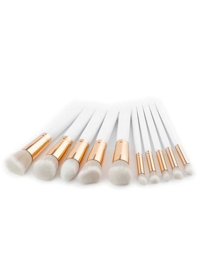 Soft Bristle Makeup Brush Set 10pcs