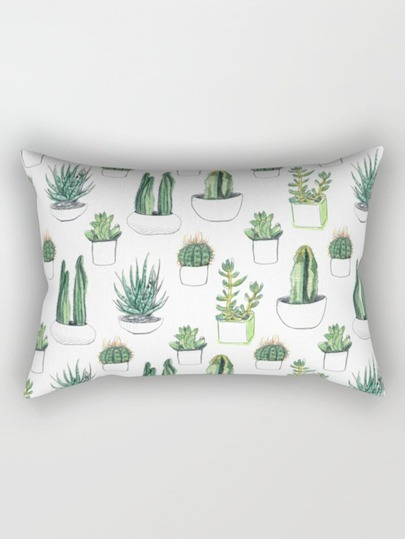 Multi Plant Print Pillowcase Cover