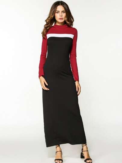 Cut und Sew Kleid mit voller Länger