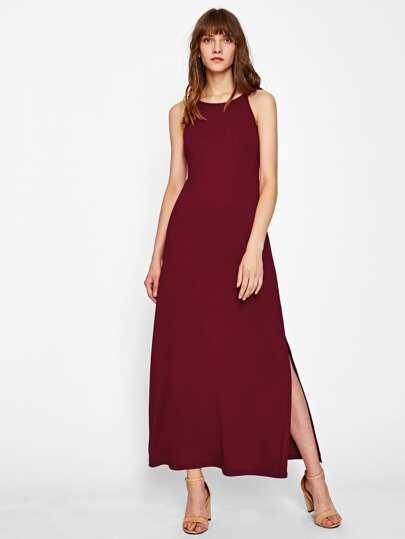Slit Side Racer Cami Dress
