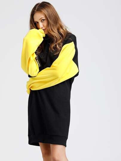 Sweatshirt Kleid mit Träger Detail