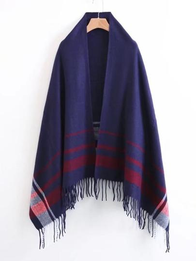 Bufanda de rayas con flecos