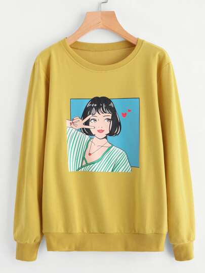 Girl Print Sweatshirt