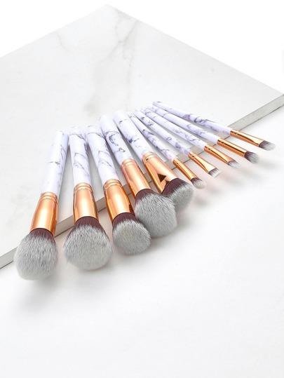 Marble Pattern Handle Brush Set 10pcs