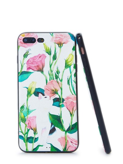 Funda de iPhone con estampado de flor