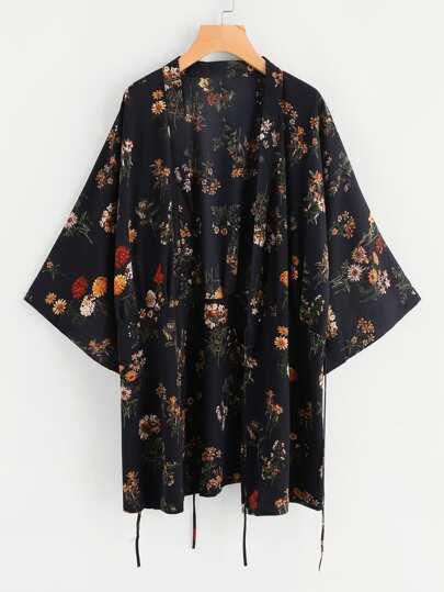 Botanical Print Kimono