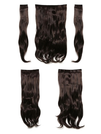 Black Cherry Clip In Soft Wave Hair Extension 5pcs