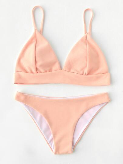 Ribbed Bikini Set