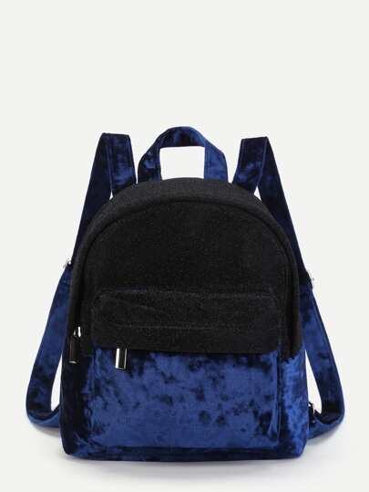 Модный бархатный рюкзак