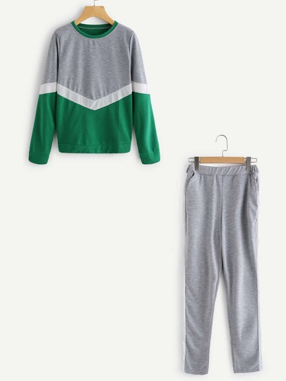 Sweat-shirt découpé &Pantalons