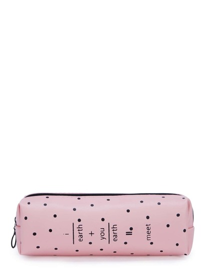Polka Dot Print Makeup Bag