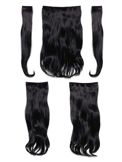 Dark Brown Clip In Soft Wave Hair Extension 5pcs
