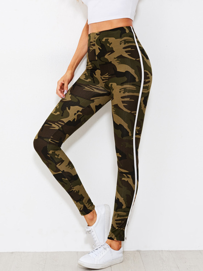 Leggings imprimé camouflage