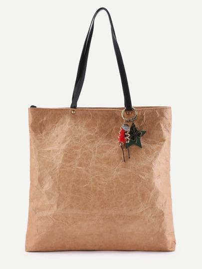 Zweifarbige Tasche mit Stern