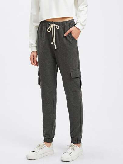 Pocket Side Heather Knit Sweatpants