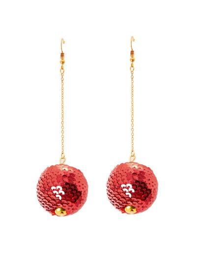 Sequin Overlay Ball Shaped Drop Earrings