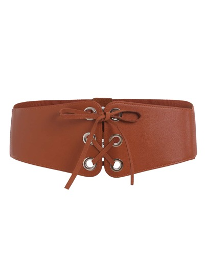 Lace Up Elastic Belt